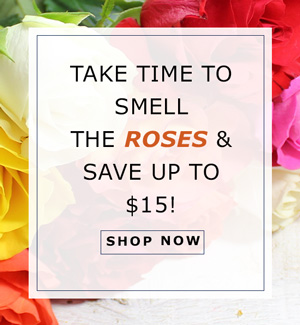 Take Time to Smell the Roses & Save up to $15!