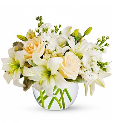 Flower Bouquets: White Serenity Bouquet