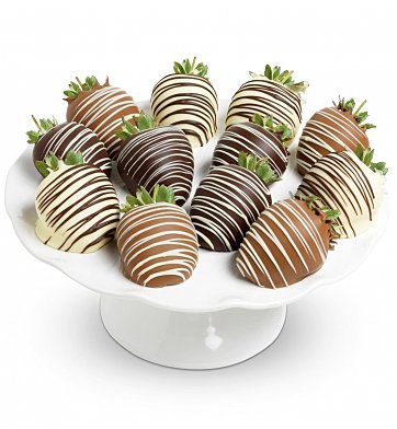 Chocolate & Sweet Baskets: Belgian Chocolate Covered Strawberries