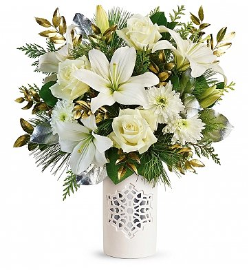Flower Bouquets: White Snowflake Bouquet