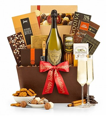 Champagne Gift Baskets: The Royal Holiday Champagne Gift Basket