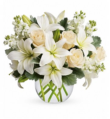 Roses: White Serenity Bouquet