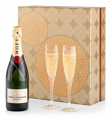 Champagne Gifts: Champagne and Flutes