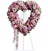 Funeral Flowers: Rose Garden Heart