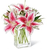 Flower Bouquets: Pink Lily Bouquet