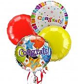 Balloons: Congratulations Balloon Bouquet-4 Mylar
