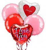 Balloons: Love & Romance Balloon Bouquet-5 Mylar