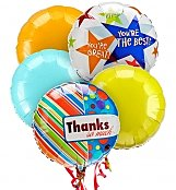 Balloons: Thank You Balloon Bouquet-5 Mylar