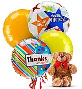 Balloons & Bear: Thank You Balloons & Bear-4 Mylar