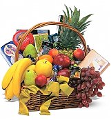 Food & Fruit Baskets: Classic Fruit & Gourmet Basket