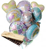 Balloons & Chocolate: New Baby Balloons & Chocolate-12 Mylar