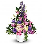 Funeral Flowers: Elegant Offering Altar Piece