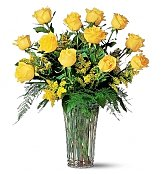 Roses: One Dozen Yellow Roses
