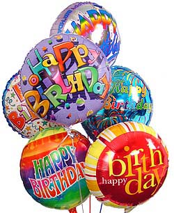 Happy Birthday Balloons: Balloons - Give warm wishes with an
