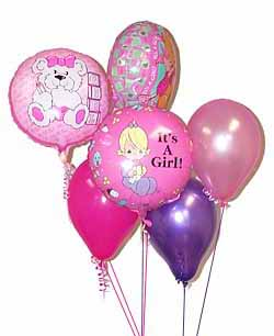 Baby Girl Balloon Mix: Balloons - A warm welcome for a new baby