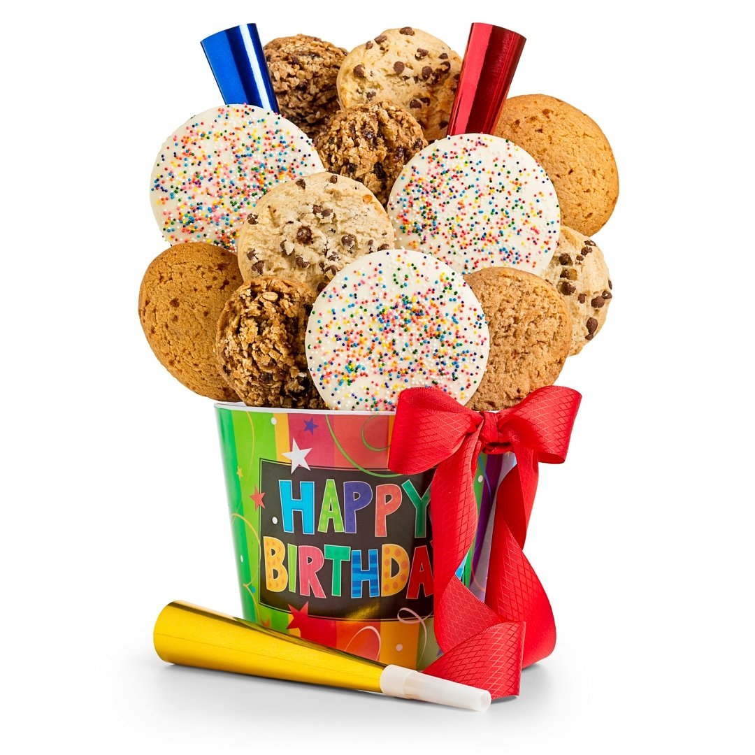 Cookie Gift Baskets Happy Birthday Pail