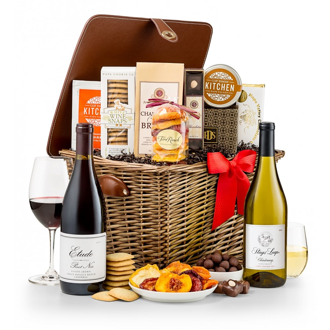 Wine Baskets: Napa Valley Wine Tasting Hamper. GIFT #21742