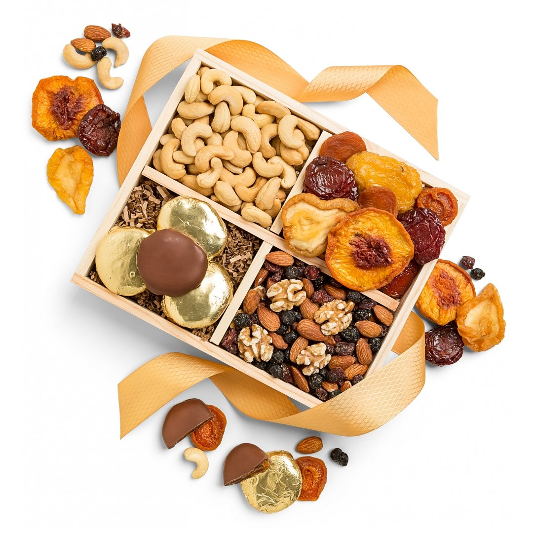 Specialty Snacks Gifts: Nuts and Fruit Harvest Crate