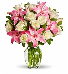 Flower Bouquets: Lily & Rose Birthday Bouquet