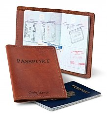 Personalized Keepsake Gifts: Embossed Leather Passport Holder