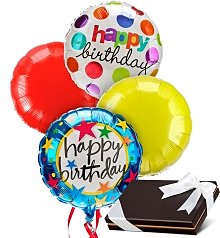 Balloons Chocolate Birthday Chocolates 4 Mylar