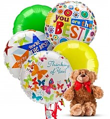 Balloons Bear Thinking Of You 5 Mylar