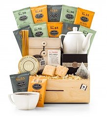 Coffee & Tea Gift Baskets: Full Leaf Tea Tasting Crate