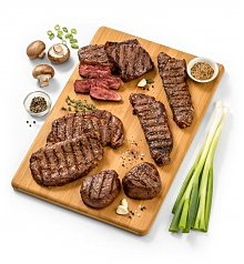 Gourmet Gift Baskets: Premium Angus Steak Selection