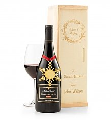 Wine Gift Crates: Season's Greetings Wine Crate