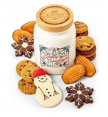 Personalized Keepsake Gifts: Personalized Happy Holidays Cookie Jar and Cookies