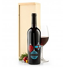 Personalized Wine Gifts: Holiday Ornament Personalized Wine Bottle