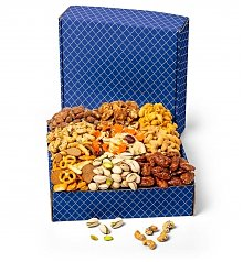 Gift Towers: Sweet and Salty Snacks Galore