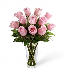 Funeral Flowers: Long Stem Pink Rose Bouquet