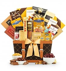 Gourmet Gift Baskets: Golden Gourmet Supreme