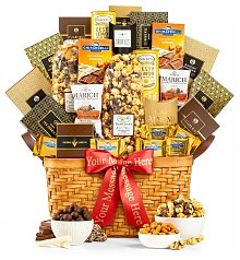 Gourmet Gift Baskets: As Good As Gold Supreme