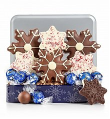 Chocolate & Sweet Baskets: Winter Greetings Chocolate Tin
