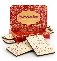 Chocolate & Sweet Baskets: Peppermint Bark Holiday Tin