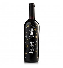 Wine Gifts: Happy Holidays Keepsake Red Wine Bottle