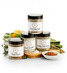 Oil, Vinegar, Salt, Spices Gifts: Zakarian Gourmet Seasonings Set