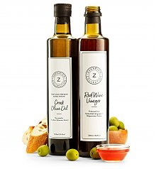 Oil, Vinegar, Salt, Spices Gifts: Zakarian Olive Oil & Red Wine Vinegar Set