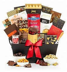 Gourmet Gift Baskets: Working From Home Snack and Chocolate Basket