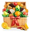 Fruit Baskets: Premium Grade Fruit and Cookies Holiday Basket