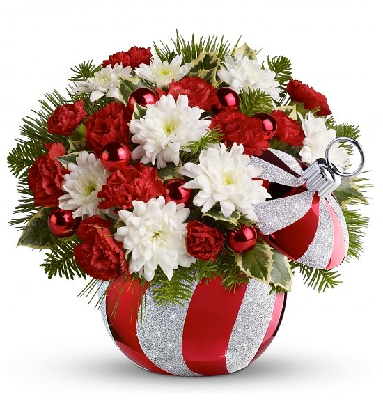 Celebrations by Radko, Ornament Bouquet: Flower Bouquets - Sparkling holiday